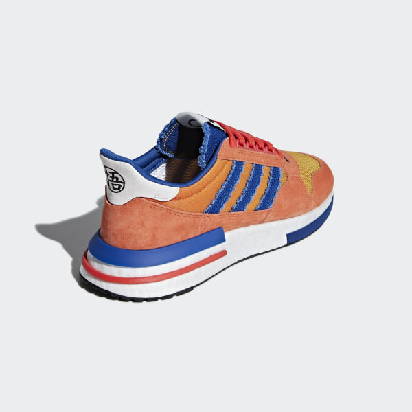 release date: 9a501 64650 Dragonball Z ZX 500 RM Shoes Orange   Collegiate Royal   Hi-Res Red D97046
