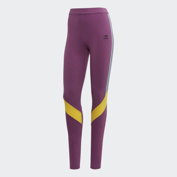 18c908c83bd1a4 adidas High-Waisted Tights - Purple | adidas Australia