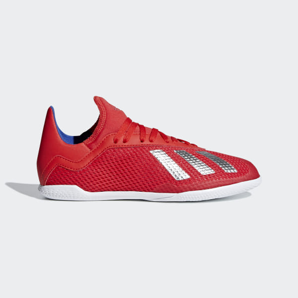 314b59ae4fa X Tango 18.3 Indoor Shoes Active Red   Silver Metallic   Bold Blue BB9396