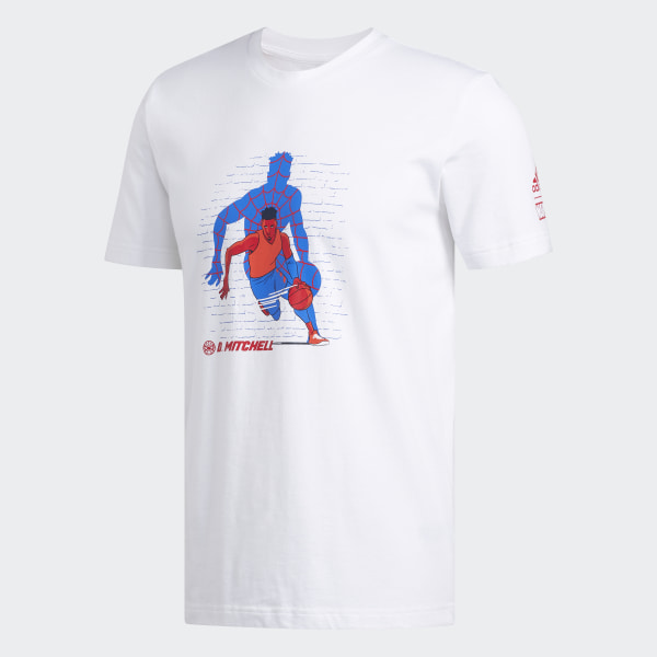 best sneakers 244f4 58905 adidas Marvel Donovan Mitchell Spider-Man T-Shirt - White | adidas Ireland