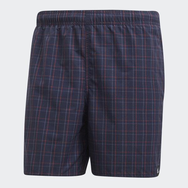 25394f9e9b95d adidas Checkered Swim Shorts - Blue | adidas UK