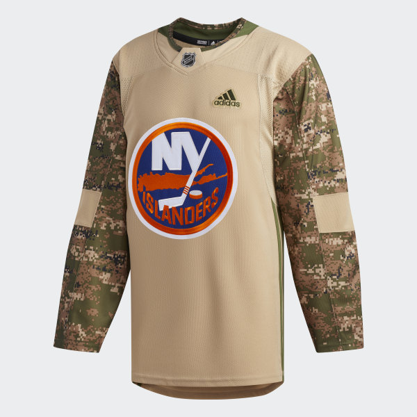 low priced 8a1d8 57d2c adidas Islanders Camo Authentic Jersey - White | adidas US