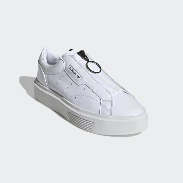 adidas Sleek Super Zip Schoenen Ftwr White / Ftwr White / Core Black EE4506