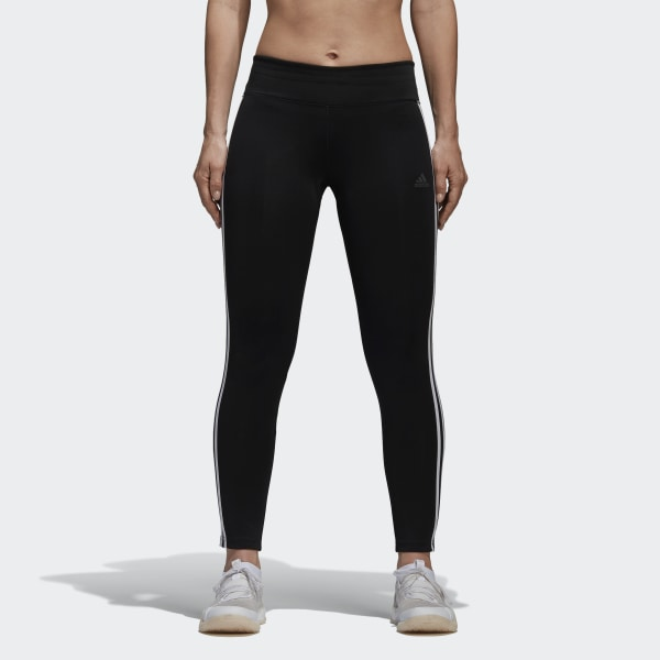 6c66f24ba4fffb Design 2 Move Climalite 3-Stripes 7/8 Leggings Black / White CE2036