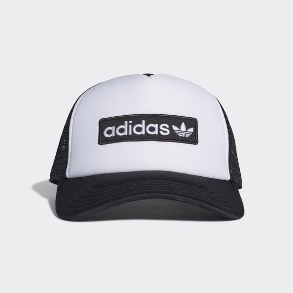f9a8aa912631e8 adidas Foam Curved Trucker Hat - Black | adidas US