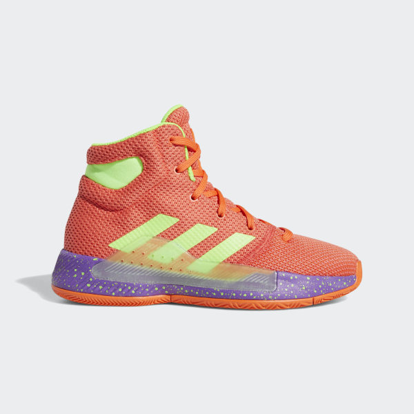 another chance e1e9d 38c8f Pro Bounce Madness 2019 Shoes True Orange   Solar Green   Easy Coral BB8073