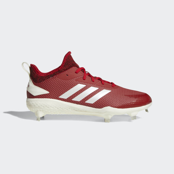 new style cdf0c 058a4 Adizero Afterburner V Cleats Power Red   Running White   Core Black CG5217