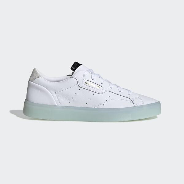 91394080d adidas Sleek Shoes Cloud White / Cloud White / Ice Mint G27342