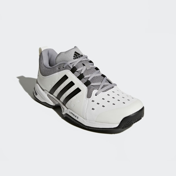 8f43cd9fef6 Barricade Classic Wide 4E Shoes Cloud White   Core Black   Mid Grey BY2920
