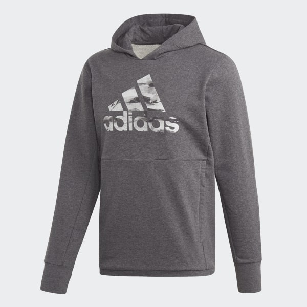 6b6a99aa adidas x UNDEFEATED Tech Hoodie Dark Grey Heather DN8783