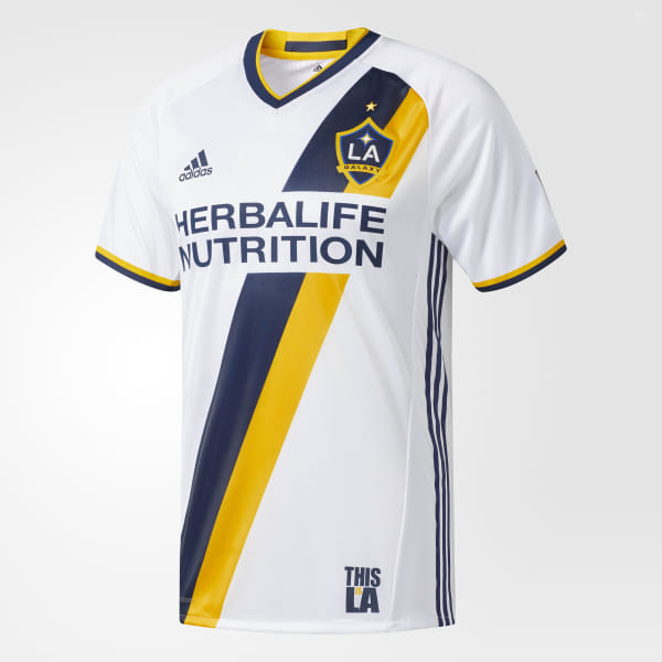 d1f4c6065e9 LA Galaxy Home Authentic Jersey White   Collegiate Navy   Collegiate Gold  AB9412