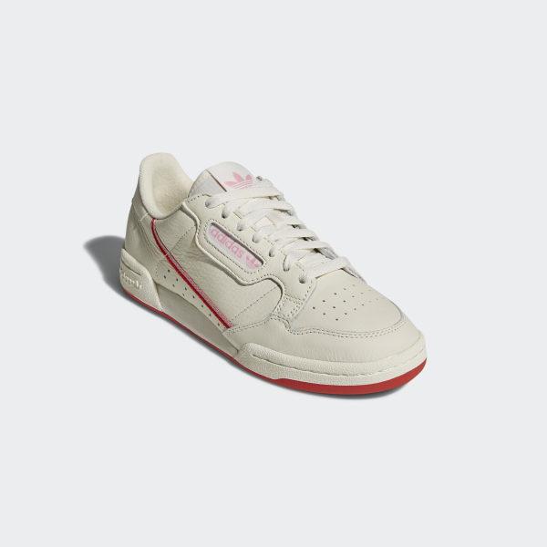 adidas Originals Women's Continental 80 WhitePink Sneaker