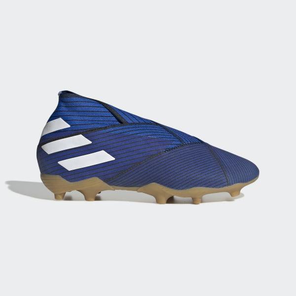 a526d5a25f5 Botas de Futebol Nemeziz 19+ – Piso firme Football Blue / Cloud White / Core