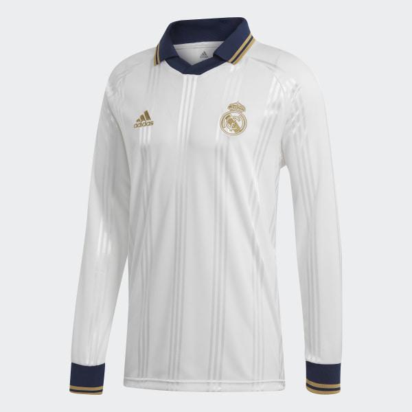 new style 238b4 827b4 adidas Real Madrid Icon Long-Sleeve Top - White | adidas UK