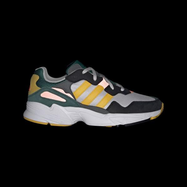 Adidas Originals Mens Yung 96 Grey One Bold Gold Solar Red