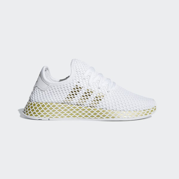 the latest 4b0aa a42eb Chaussure Deerupt Runner Ftwr White   Gold Met.   Ftwr White CG6087