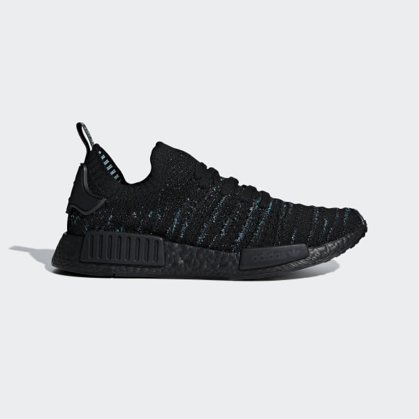 huge discount d8c86 256a9 NMD R1 STLT Parley Primeknit Shoes Core Black   Blue Spirit   Eqt Green  AQ0943