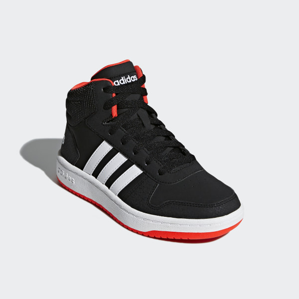 3326d46b Hoops 2.0 Mid Shoes Core Black / Cloud White / Hi-Res Red B75743
