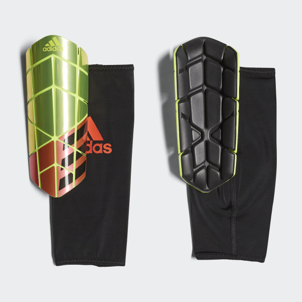 6b926d92d X Pro Shin Guards Solar Yellow / Solar Red / Black CW5569