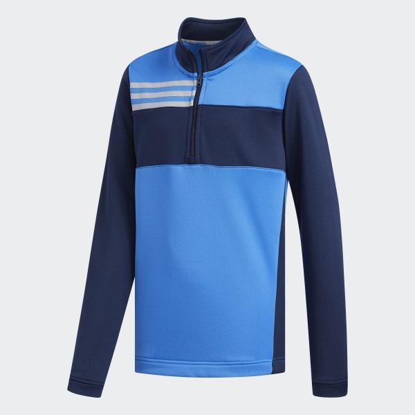 adidas Colorblocked Layer Sweatshirt Blue   adidas US