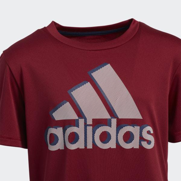 b4ca1fa5c9 adidas Shadow Badge of Sport Tee - Red   adidas US
