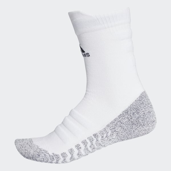 d33844e4a89e9 Alphaskin Traxion Lightweight Cushioning Crew Socks White / Black CG2674