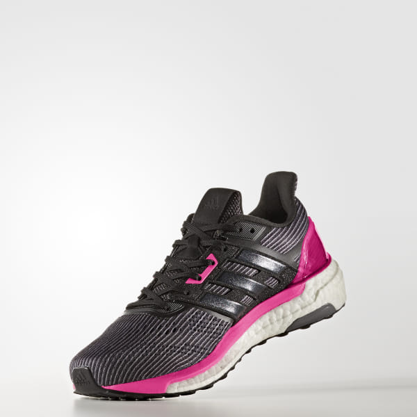 new arrival 105fe f901e Supernova Glide 9 Shoes Utility Black   Core Black   Shock Pink BB3483