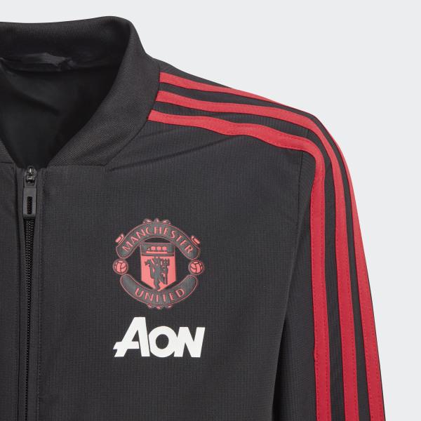 414f601be Manchester United Presentation Jacket Black   Blaze Red   Core Pink CW7631