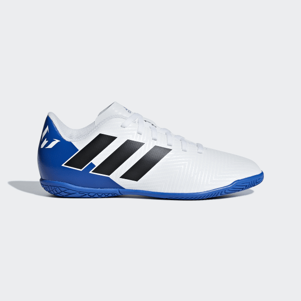 799b565b3819f Chuteira Nemeziz Messi Tango 18.4 Futsal FTWR WHITE/CORE BLACK/FOOTBALL  BLUE DB2398