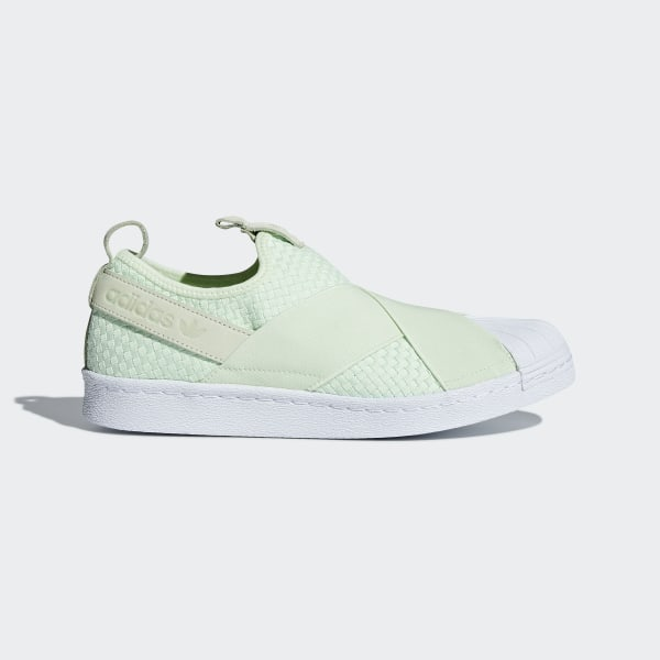 Details zu adidas Originals Superstar Slip On Schuh Herren Trainers Grün Freizeit