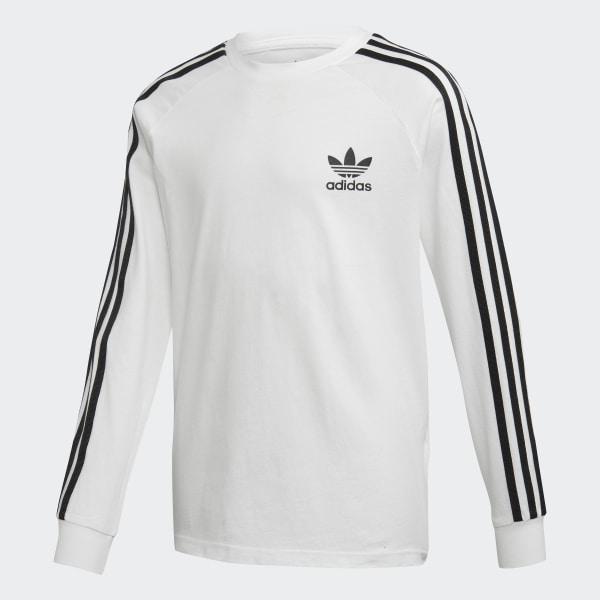 467818aa adidas 3-Stripes Long-Sleeve Top - White | adidas UK