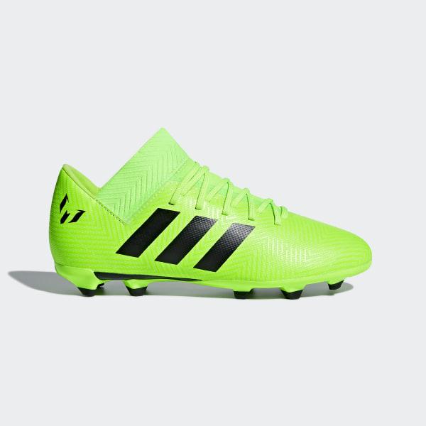 03c97a04e Calzado de Fútbol Nemeziz Messi 18.3 Terreno Firme Niño SOLAR GREEN CORE  BLACK SOLAR