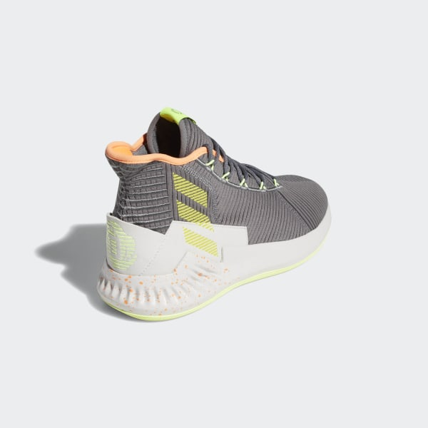 D Rose 9 Shoes Grey Four Shock Yellow One F99886