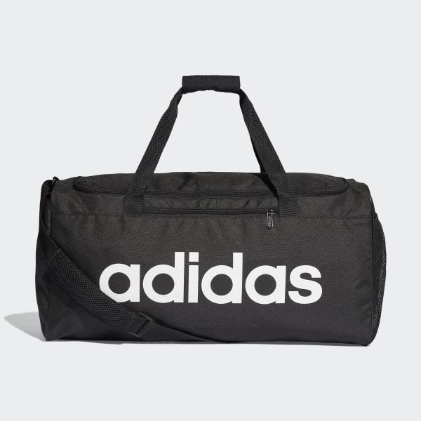 703957ab10 adidas Linear Core Duffel Bag Medium - Black | adidas Finland