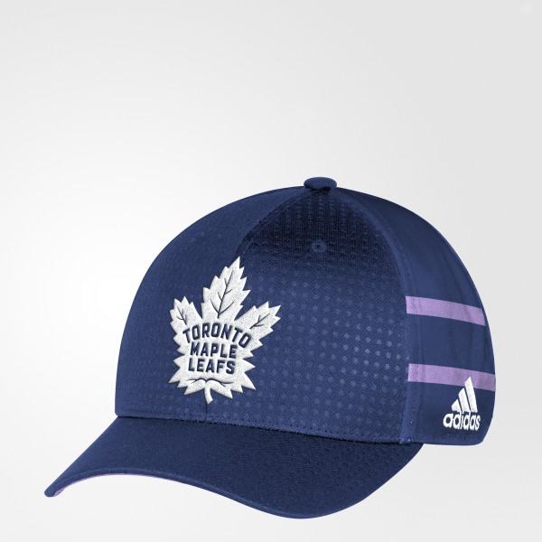 db9879be850c0 adidas Hockey Fights Cancer Maple Leafs Structured Flex Cap ...