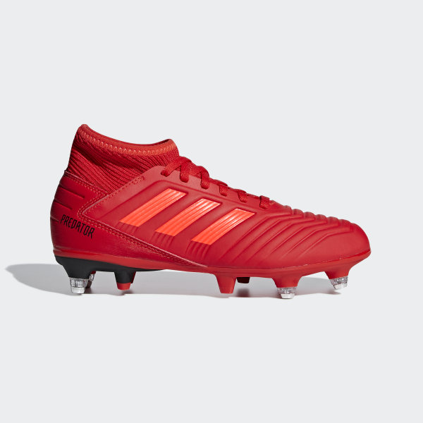 522fddc12c6 Predator 19.3 Soft Ground Boots Active Red   Solar Red   Core Black EE3688