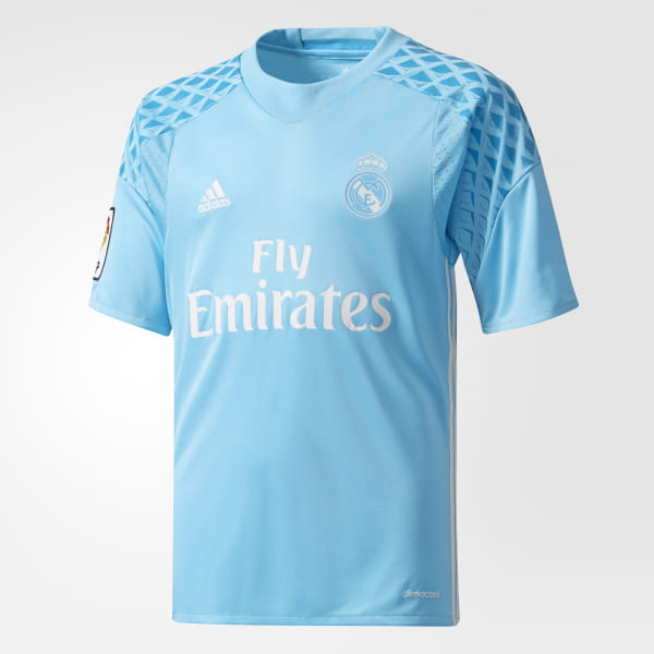 5608571a900 Real Madrid Home Goalkeeper Jersey Bright Cyan / Crystal White AI5177