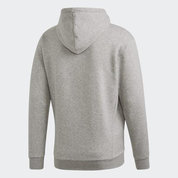 57e9b6415f65e Must Haves Badge of Sport Pullover Hoodie Fleece Medium Grey Heather /  Black DT9946