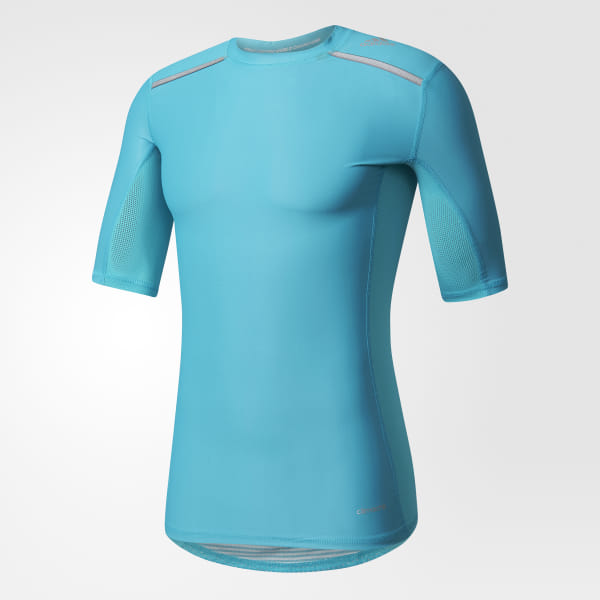 Adidas Techfit Chill Mens Long Sleeve Training Top Blue Clothing, Shoes & Accessories Fitness, Running & Yoga
