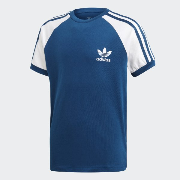 STRIPES TEE T shirt imprimé legend marinewhite