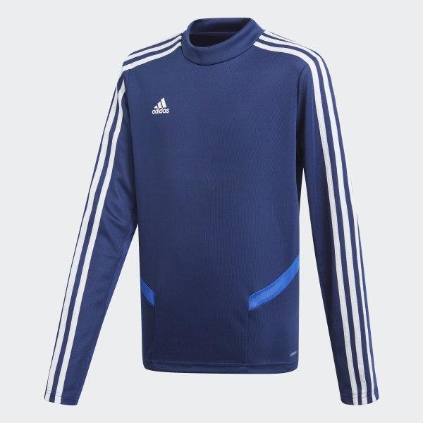 ad4f4b3d338682 Maglia da allenamento Tiro 19 Dark Blue / Bold Blue / White DT5280