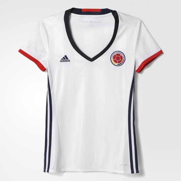 b6a4dac9 adidas Camiseta local de Colombia mujer 2016 - Blanco   adidas Colombia