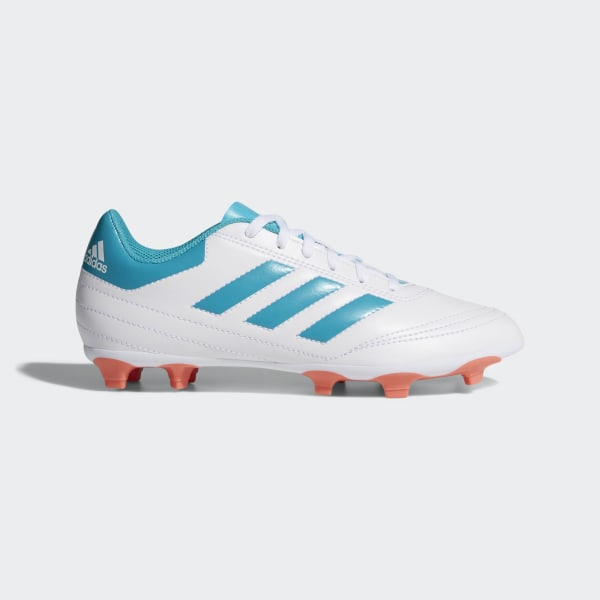 uk availability ccb49 06360 Goletto 6 Firm Ground Cleats Cloud White   Energy Blue   Easy Coral BY2774