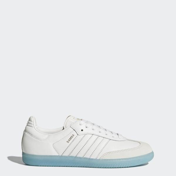 9d4935e5650 Samba Schoenen Footwear White / Footwear White / Bright Cyan BY2966