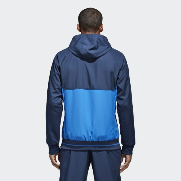 Chaqueta con capucha Presentación Tiro 17 Azul adidas   adidas España