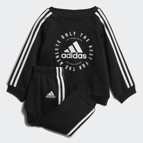 9c9240dd49439 Ensemble sportswear Fleece 3-Stripes Black   White DV1285
