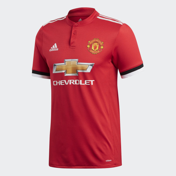 6711ac188a4 Manchester United Home Authentic Jersey Real Red   White   Black BQ7278