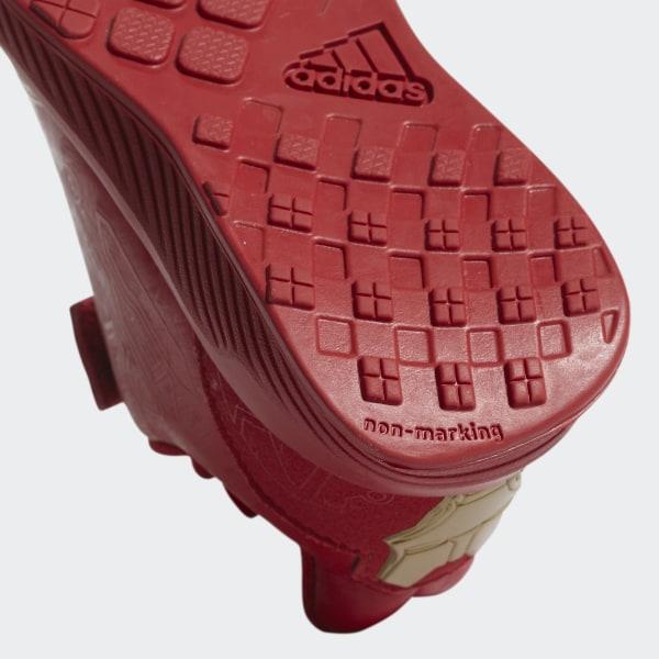 2845f160019 RapidaRun Avengers Shoes Scarlet   Scarlet   Matte Gold AH2686