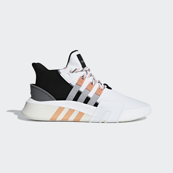 baef1846d0f6 EQT Bask ADV Shoes Ftwr White   Grey Two   Easy Orange F33853