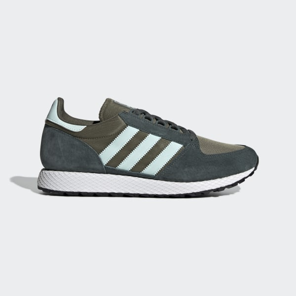 adidas Originals FOREST GROVE J Vert Chaussures Baskets